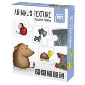 Puzzle  Educativ Montessori - Texturile animalelor