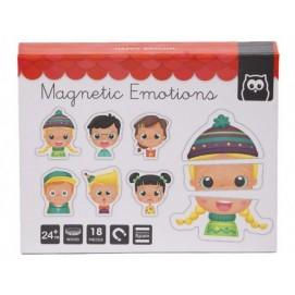 Puzzle  Magnetic Educativ din lemn - Emotii