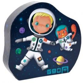 Puzzle  Progresiv - 4 in 1 - Micul Astronaut