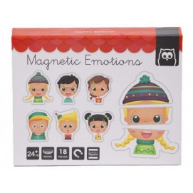 Puzzle  Magnetic Educativ din lemn - Emotii